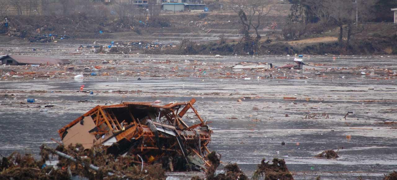 津波被害の様子