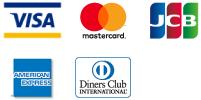 VISAカード、マスターカード、JCB、アメリカン・エキスプレス、ダイナーズクラブ